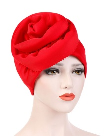 Fashion Red Space Cotton Super Large Flower Side Cut Flower Headband Cap