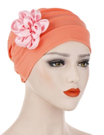 Fashion Watermelon Red Side Flower Hex Cap