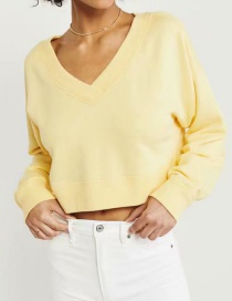 Fashion Yellow Bat Sleeve Sweater