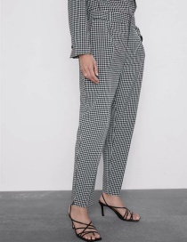 Fashion Black Plaid Trousers