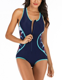 Fashion Navy Siamese Surf Suit