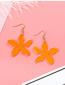 Fashion Orange Petals Transparent Acrylic Earrings
