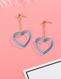 Fashion Blue Love Acrylic Earrings