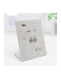 Fashion 60 Hole Ear Nail Plate Ice Velvet Jewelry Display Stand