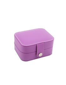 Fashion Violet (small) Portable First Earrings Ring Storage Box