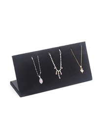 Fashion Black Suede L-shaped Necklace Display Stand
