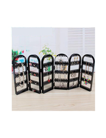 Fashion 6 Black Screen Type Jewelry Display Stand