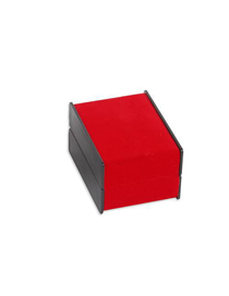 Fashion Red Suede Portable Watch Display Case