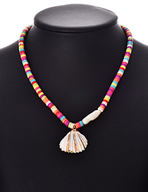 Fashion Color Alloy Resin Pearl Shell Necklace