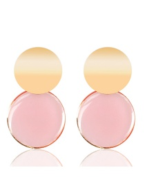 Fashion Pink Acrylic Round Transparent Earrings