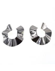 Fashion Silver Metal Sequin Earrings