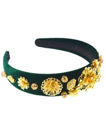 Fashion Green Wide-brimmed Hairband