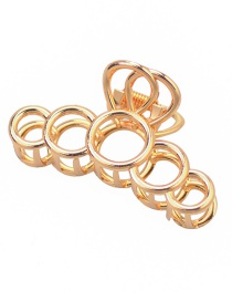 Fashion Gold Geometric Alloy Round Large Grab
