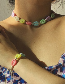 Fashion Color Geometric Color Shell Necklace