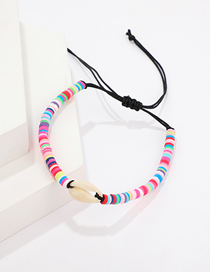 Fashion Color Braided Rope Shell Bracelet