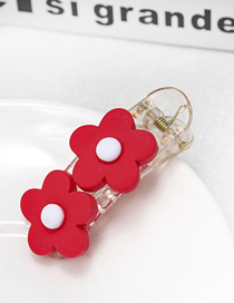Fashion Red Flower Duckbill Clip Small Flower Duckbill Clip