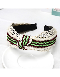 Fashion White Fringed Lace Headband Ancient Lace Fringed Wide-brimmed Headband