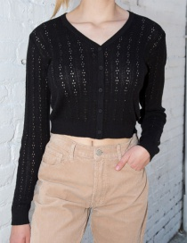 Fashion Black Knitted Top