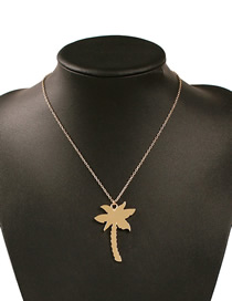 Fashion Golden Coconut Tree Alloy Cactus Coconut Pineapple Necklace
