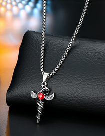 Fashion Ancient Silver Geometric Embossed Necklace