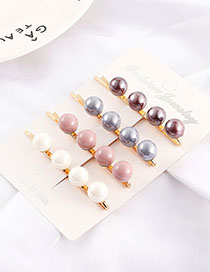 Fashion Color Ball Hairpin