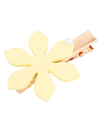 Fashion Yellow Snowflake Hair Clip