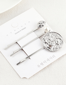 Fashion White K Avatar Hair Clip Set