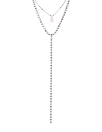 Fashion Silver Imported Crystal Chain - Radiant