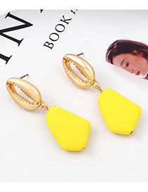 Yellow Shell Scrub Earrings