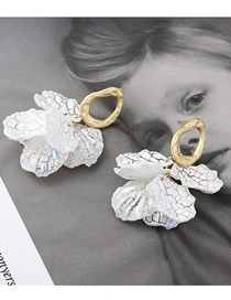 Fashion Gold Lotus Leaf S925 Silver Needle Earrings