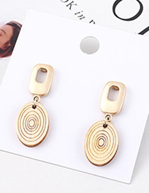 Fashion White Wood Spiral Earrings
