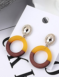 Fashion Gold Round Hollow Earrings