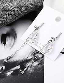 Fashion Platinum Plated Gold Fringed S925 Silver Needle Earrings