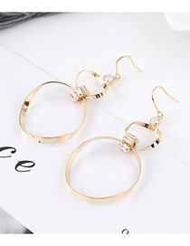 Fashion 14k Gold Plated Gold Oval Pierced Earrings
