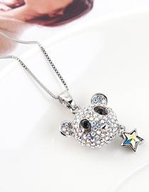 Collar De Cristal Con Osito Estrella