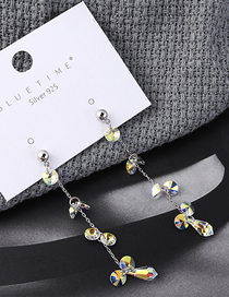 Fashion Color Crystal Earrings - Shining