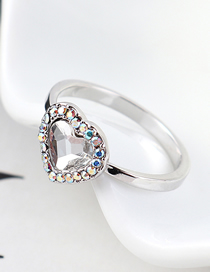 Fashion White Crystal Ring - Love Is You And Me