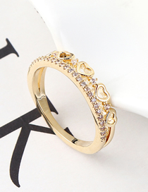 Fashion 14k Gold Zircon Ring - The Heart Is You