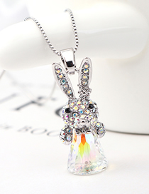 Fashion Silver Crystal Necklace - Little Rogue Rabbit