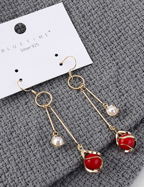 Fashion K Gold Plated Gold-size Pearl Earrings