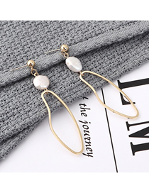 Fashion Gold Plated Gold-plated Pierced Pearl S925 Silver Needle Stud Earrings