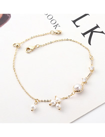 Fashion (14k Gold) Pearl Zircon Bracelet
