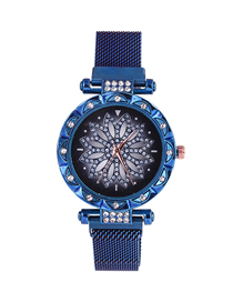 Fashion Blue Time To Run The Tape Watch  Electronic Element
