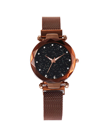 Fashion Coffee Gold Tape Star Watch  Electronic Element