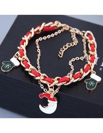Fashion Moon Metal Christmas Pendant Bracelet