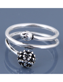 Fashion Silver Multi-layer Open Ring