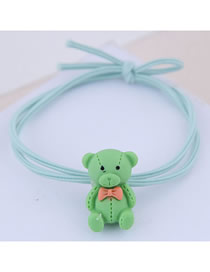 Fashion Green Bear Hair Ring