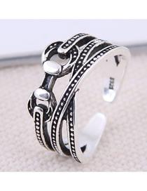 Fashion White K Open Ring