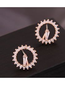 Fashion Gold Copper Micro-inlaid Zirconium Earrings