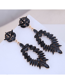 Fashion Black Metal Earrings